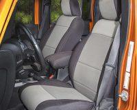 Rugged Ridge 13215.09 Neoprene Front Seat Covers, Black/Gray; 11-17 Jeep Wrangler JK