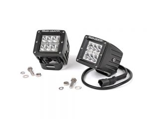 2IN Square Cree LED Lights - (Pair | Chrome Series) | Rough Country 70903