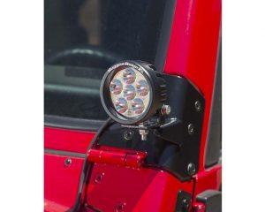 Rugged Ridge 11027.02 Windshield Auxiliary Light Mounting Brackets; 97-06 Jeep Wrangler TJ