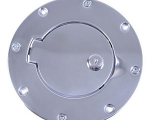 Rugged Ridge 11134.04 Locking Gas Cap Door, Stainless Steel; 97-06 Jeep Wrangler TJ