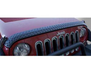 Rugged Ridge 11651.17 Hood Guard, Body Armor; 07-17 Jeep Wrangler JK