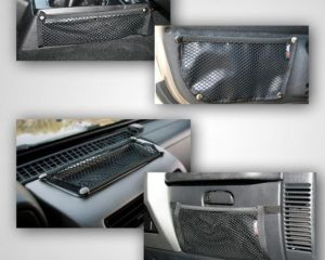Rugged Ridge 12495.11 Interior Mesh Storage Kit; 97-06 Jeep Wrangler TJ