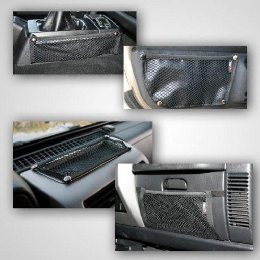 Rugged Ridge 12495.11 Interior Mesh Storage Kit; 97-06 Jeep Wrangler TJ