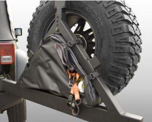 Rugged Ridge 12801.50 Triangular Storage Bag for Rugged Ridge Tire Carriers