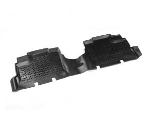 Rugged Ridge 12950.01 Floor Liners, Rear, Black; 07-17 Jeep Wrangler JKU
