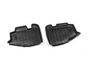 Rugged Ridge 12950.10 Floor Liners, Rear, Black; 97-06 Jeep Wrangler/Unlimited TJ/LJ