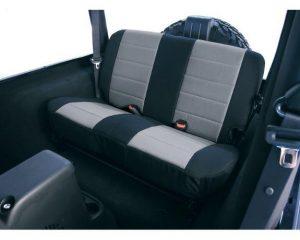Rugged Ridge 13261.09 Neoprene Rear Seat Covers, Gray; 97-02 Jeep Wrangler TJ