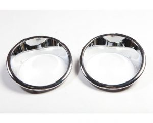 Rugged Ridge 13311.20 Headlight Bezels, Chrome; 07-17 Jeep Wrangler JK