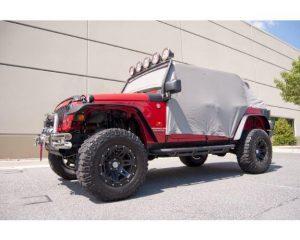 Rugged Ridge 13317.09 Cab Cover, Gray; 07-17 Jeep Wrangler JK