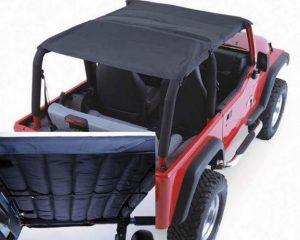 Rugged Ridge 13582.15 Acoustic Island Topper Soft Top, Black Denim; 97-06 Jeep Wrangler TJ