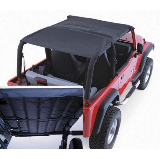 Rugged Ridge 13582.15 Acoustic Island Topper Soft Top, Black Denim; 97-06 Jeep Wrangler TJ