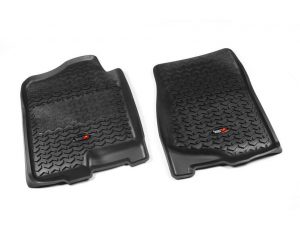 Rugged Ridge 82901.01 Floor Liners, Front, Black; 07-14 GM Trucks Fullsize Pickup/SUV