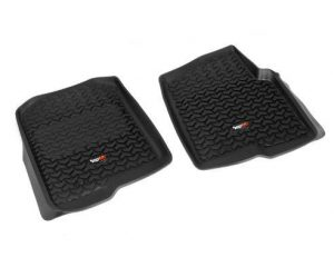 Rugged Ridge 82902.01 Floor Liners, Front, Black; 04-08 Ford F-150/06-08 Lincoln Mark LT