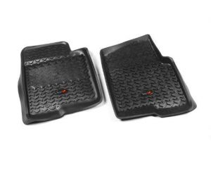 Rugged Ridge 82902.03 Floor Liners, Front, Black; 09-10 Ford F-150 Ext/Reg/SuperCrew