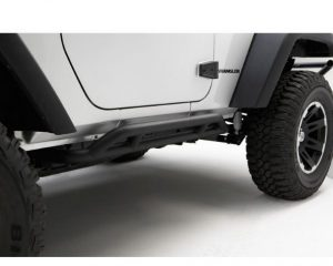 Rough Country 11504.23 Rocker Guards, Black; 07-18 Jeep Wrangler JK