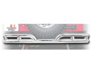 Rugged Ridge 11573.10 Double Rear Tube Bumper, 3 Inch; 07-18 Jeep Wrangler JK