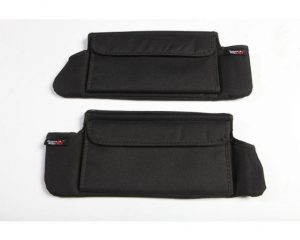 Rugged Ridge 13305.07 Sun Visor Organizers, Black; 07-09 Jeep Wrangler JK