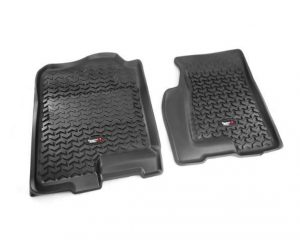 Rugged Ridge 82901.02 Floor Liners, Front, Black; 99-06 GM Full-size Pickup/SUV