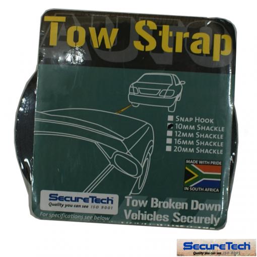 Tow Strap 10mm Shackle | SecureTech 840113