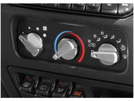 Aluminum Climate Control Knob Set, Red; 99-06 TJ | Rugged Ridge 11420.04